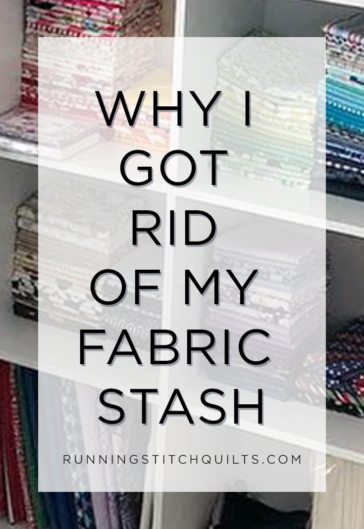 I used to collect fabrics because they are pretty, but then realized why I don't need a fabric stash after all!
