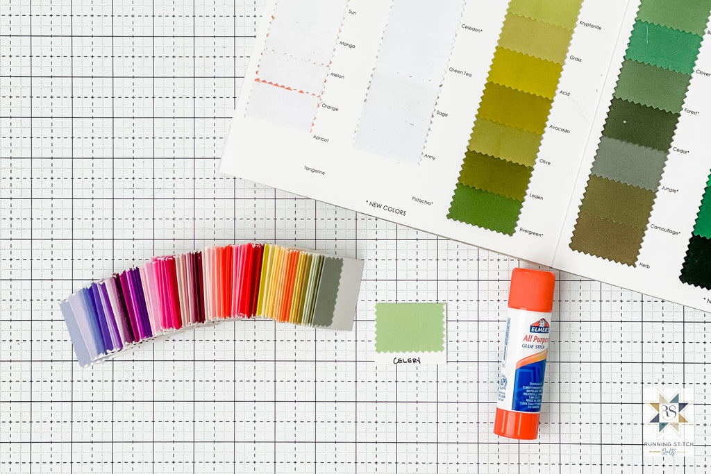 How to make fabric swatch cards by Julie Burton of Running Stitch Quilts