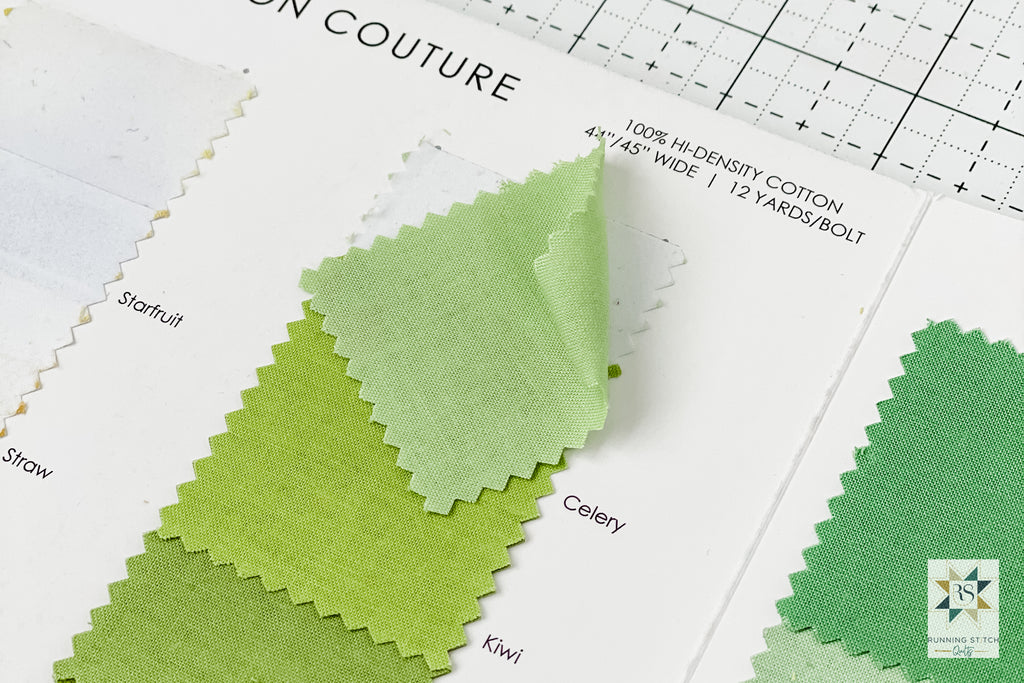 How to Make Fabric Swatch Chips by Julie Burton of Running Stitch Quilts
