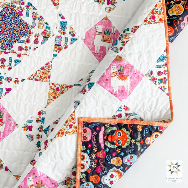 Noughts and Crosses Quilt by Julie Burton of Running Stitch Quilts