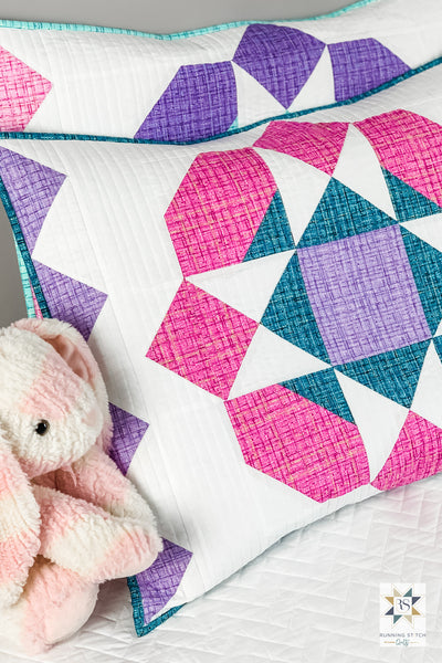 How to make a quilted pillow sham by Julie Burton of Running Stitch Quilts