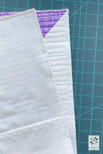 How to make an envelope backed quilted pillow sham by Julie Burton of Running Stitch Quilts