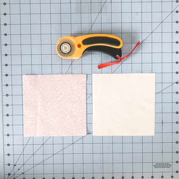 How to make 4 at a time HST - an easy to follow tutorial with lots of pictures by Julie of Running Stitch Quilts