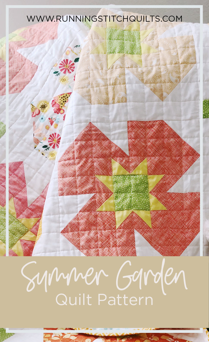 Summer Garden Quilt Pattern Running Stitch Quilts