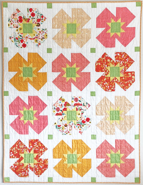 Summer Garden Quilt by Running Stitch Quilts