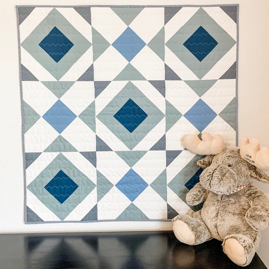 Noughts and Crosses Quilt Pattern - PRINTED