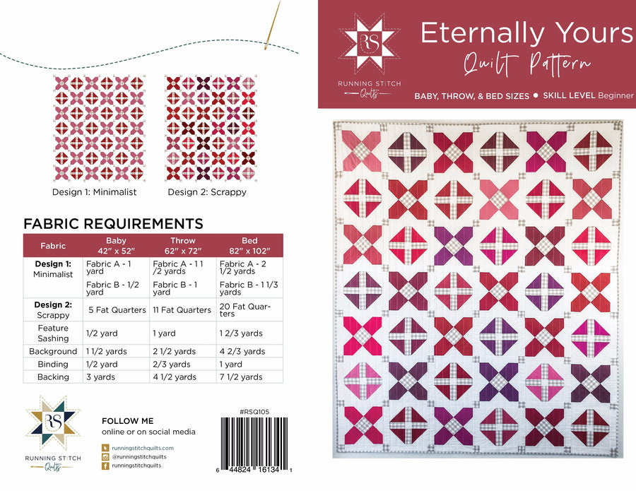 Eternally Yours Quilt Pattern - PRINTED