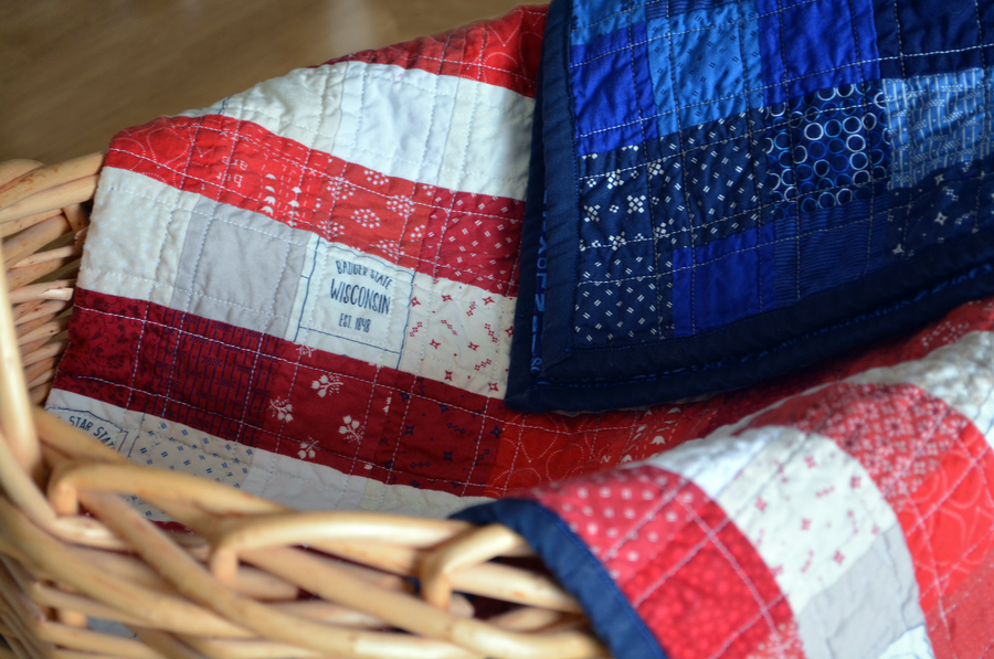 Scrappy American Flag Pattern - PRINTED