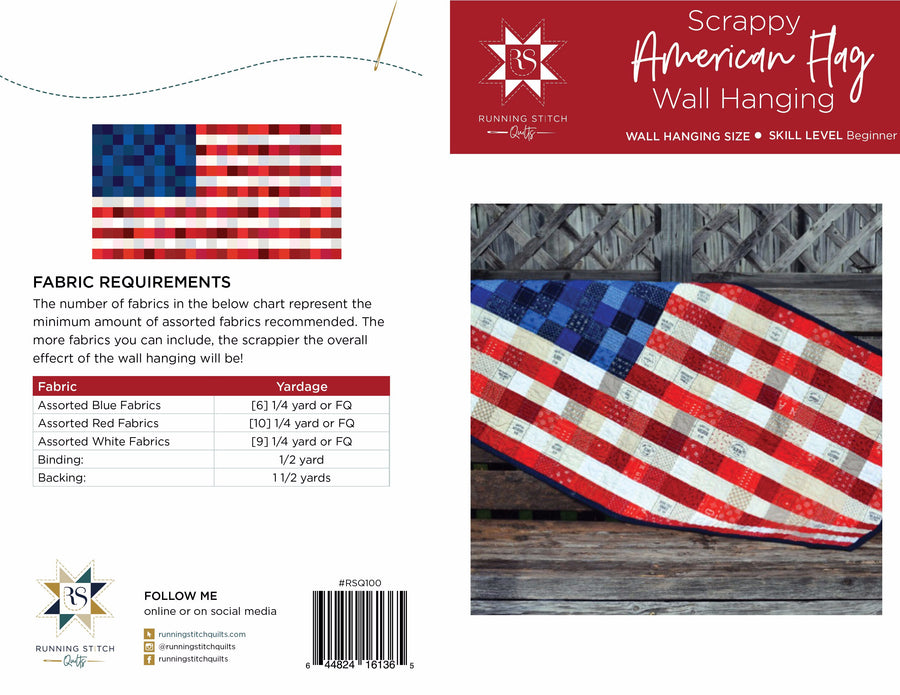 Scrappy American Flag Pattern - PDF