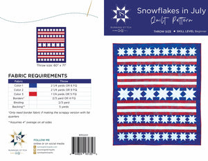 Snowflakes in July Quilt Pattern - PDF