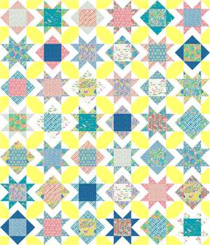 Square Burst Quilt Pattern - PRINTED