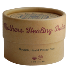 Load image into Gallery viewer, herbal healing, mothers healing balm, herbal ointment, compostable packaging, green packaging, clean ingredients, diaper rash balm, nipple balm, eczema balm