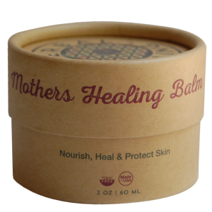 herbal healing, mothers healing balm, herbal ointment, compostable packaging, green packaging, clean ingredients, diaper rash balm, nipple balm, eczema balm