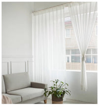 Load image into Gallery viewer, White Sheer Curtains