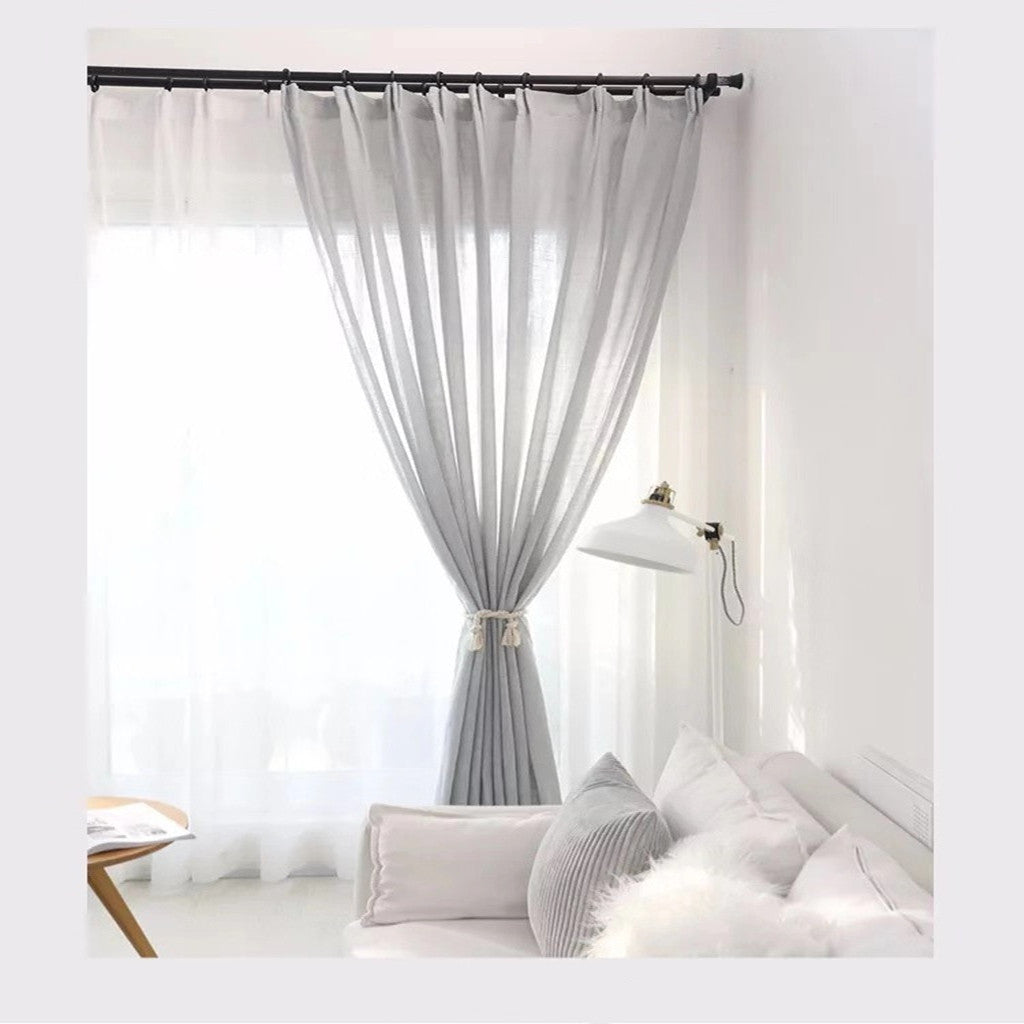 Grey Sheer Curtains Beautcurtain
