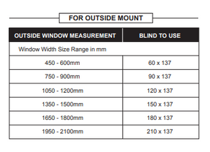 Prepacked Esteem Blockout Roller Blind