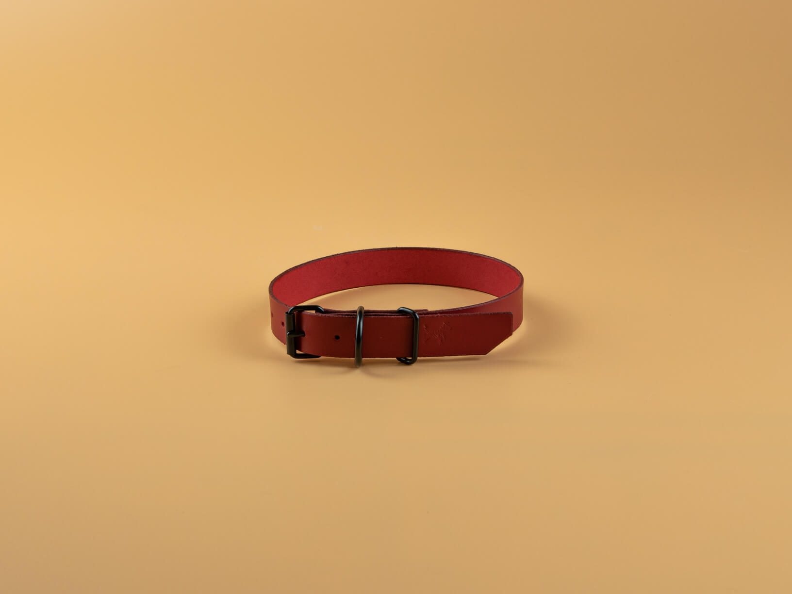 Classic Full Grain Leather Collar - Red Orch