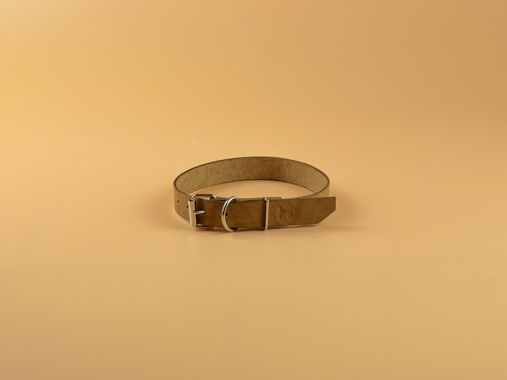 Classic Full Grain Leather Collar - Vanilla