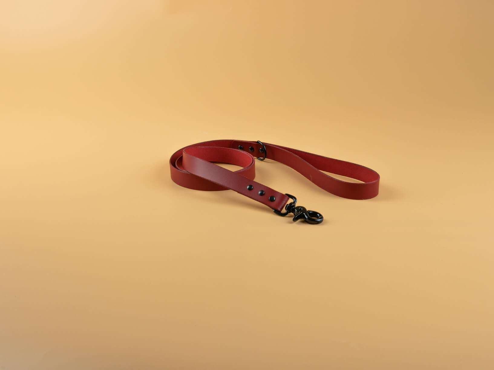 Classic Full Grain Leather Leash - Red Orch