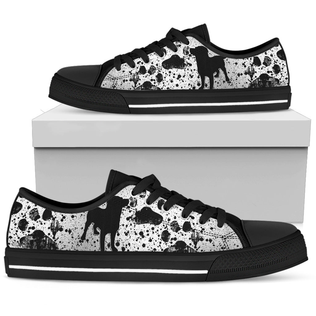 Dreaming Of Dogs Black Low Top Sneaker