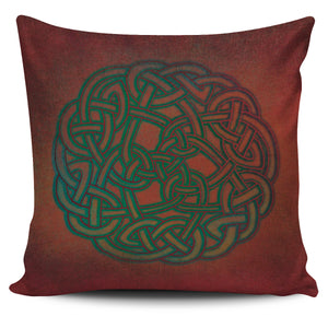 Red Celtic Knotwork Pillow Cover