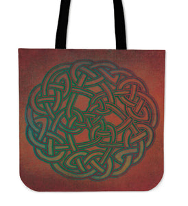 Celtic Knotwork Tote Bag Purse Red - Celtic Knotwork Tote Bag Purse Red