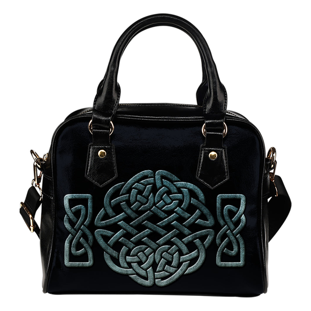 Teal Celtic Knotwork Purse Handbag