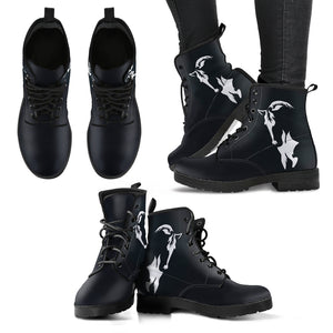 Black Horse Women's Leather Boots