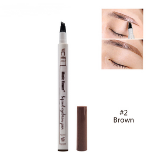 Kiss Beauty waterproof microblading pen long lasting 3 colors fork tip eyebrow tattoo pen crayon sourcil eyebrow pencil KB007