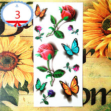 Amazing Butterfly 3D Temporary Tattoo Body or Home Decor