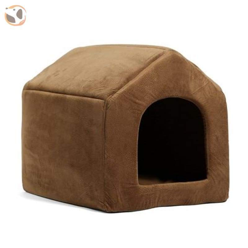 100% Cotton High Quality Dog House Sofa - Brown / L