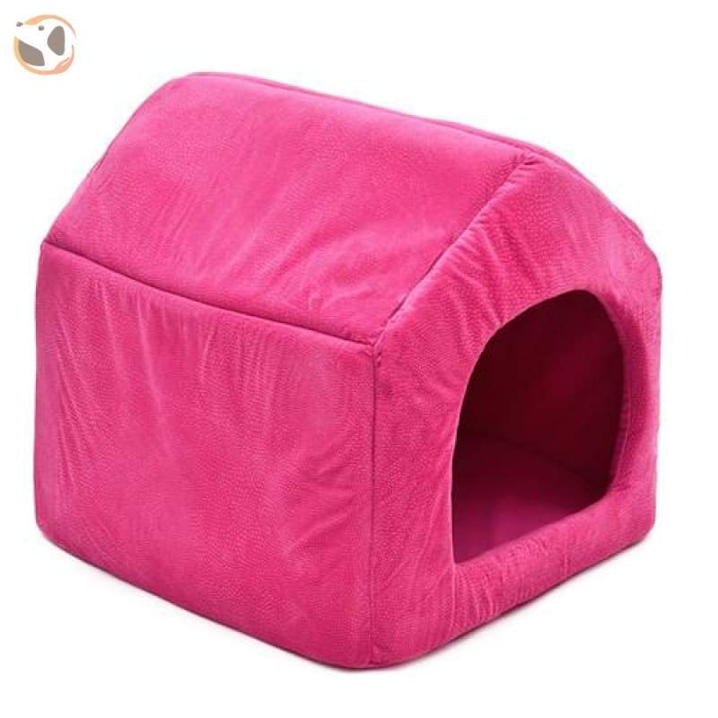 100% Cotton High Quality Dog House Sofa - Rose Red / L