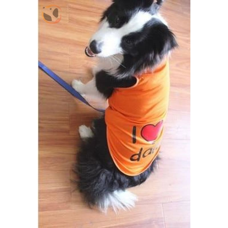 100% Cotton I Love Mommy Dog T Shirts - Orange / 3XL