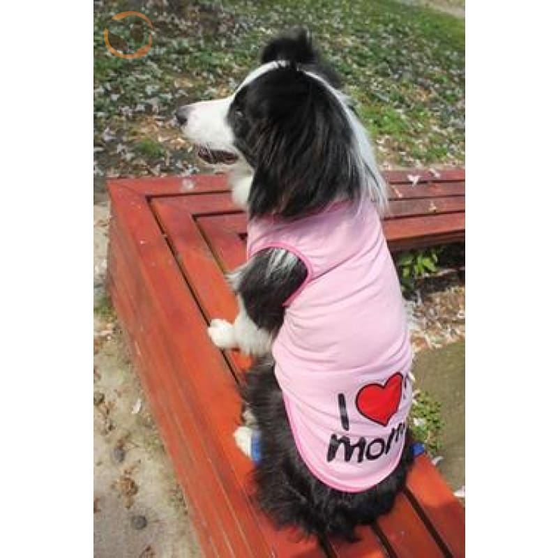100% Cotton I Love Mommy Dog T Shirts - Pink / 3XL