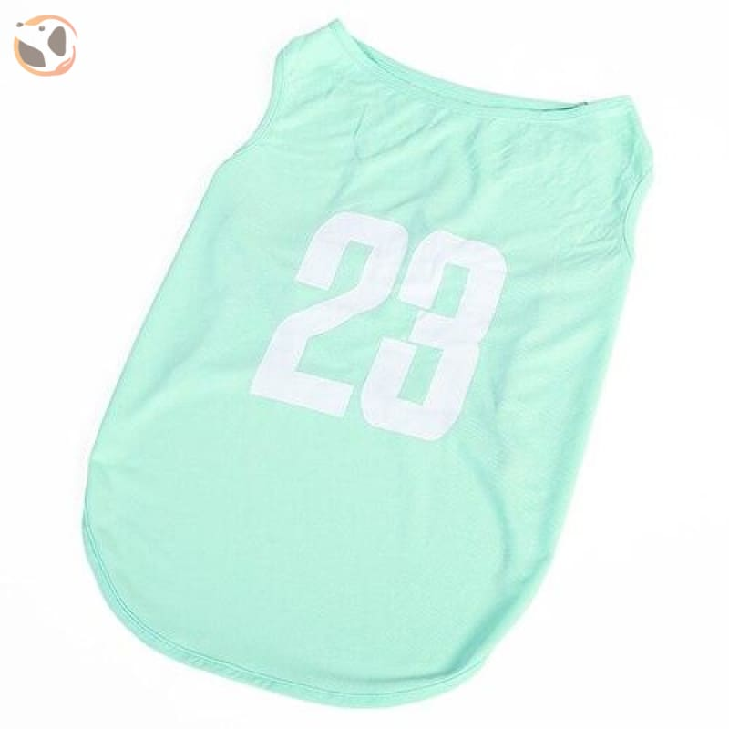 23 Number Breathable Dog Jersey - Blue / 3XL