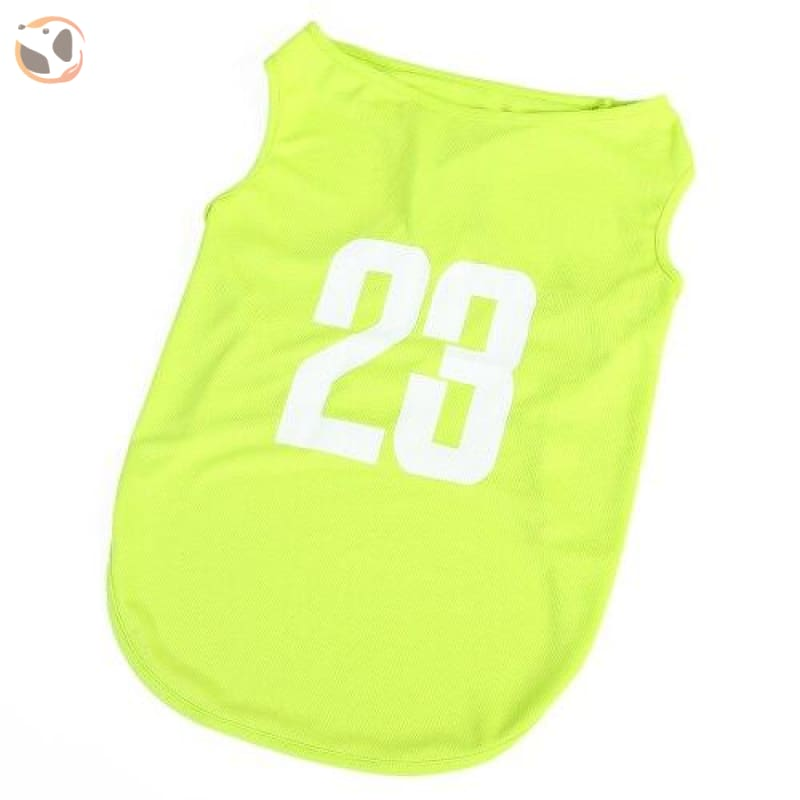 23 Number Breathable Dog Jersey - Green / 3XL