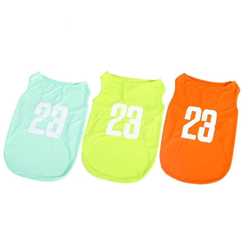 23 Number Breathable Dog Jersey