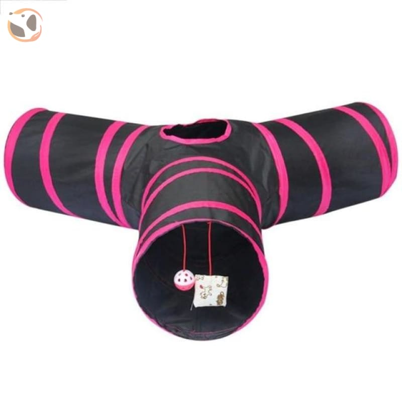3 Holes Funny Pet Cat Tunnel - 65x65x25cm B