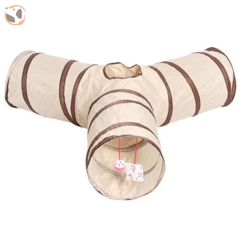 3 Holes Funny Pet Cat Tunnel - 65x65x25cm C
