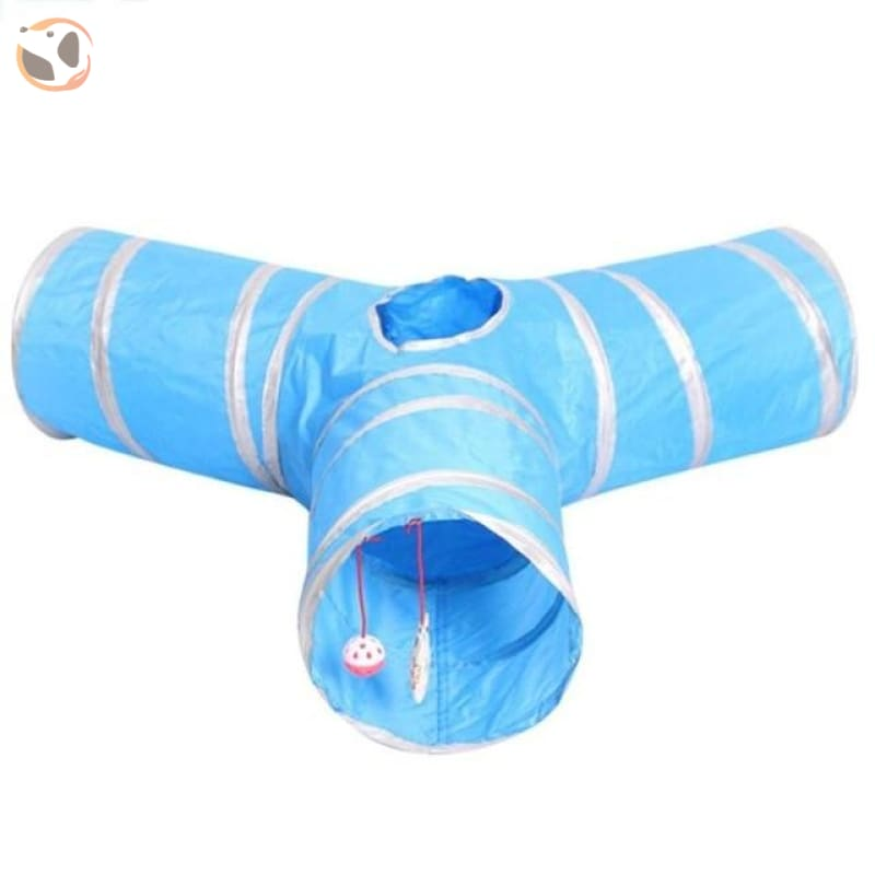 3 Holes Funny Pet Cat Tunnel - 65x65x25cm D