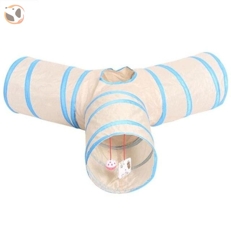 3 Holes Funny Pet Cat Tunnel - 65x65x25cm E