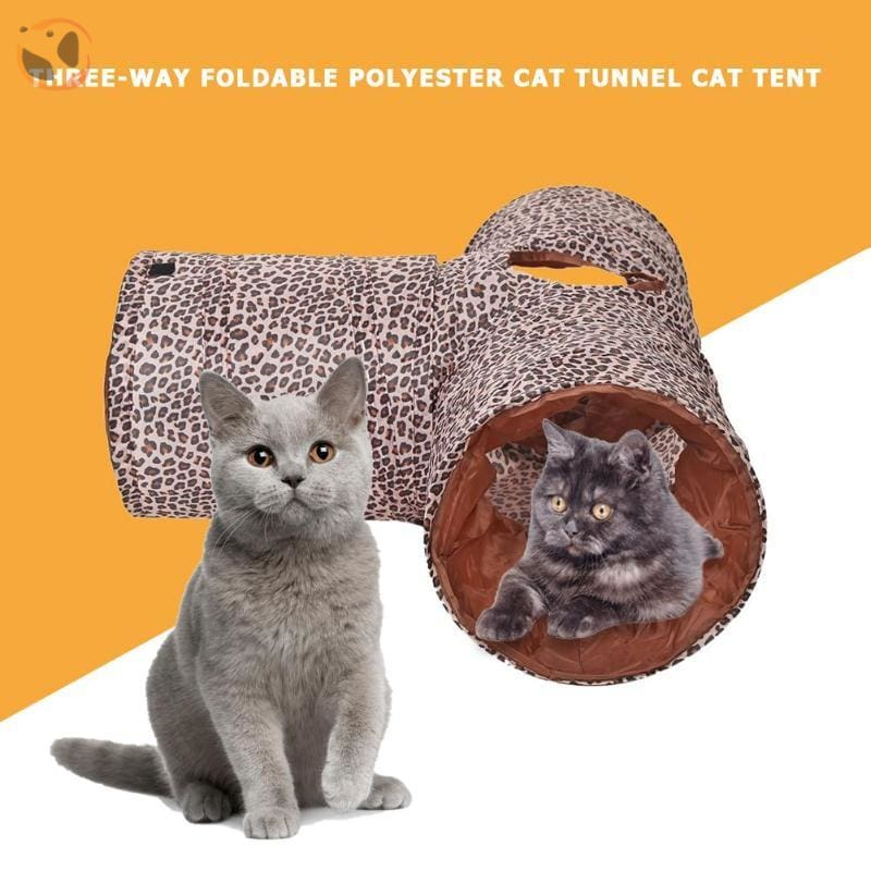 3 Holes Funny Pet Cat Tunnel