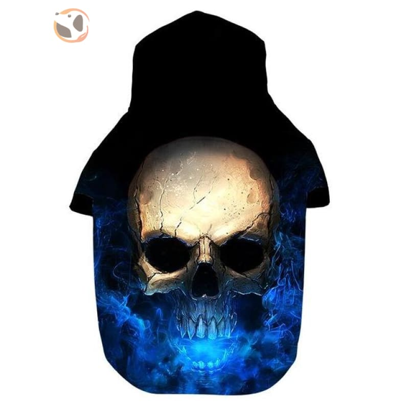 3D Skull Printed Dog Hoodies - Black / S