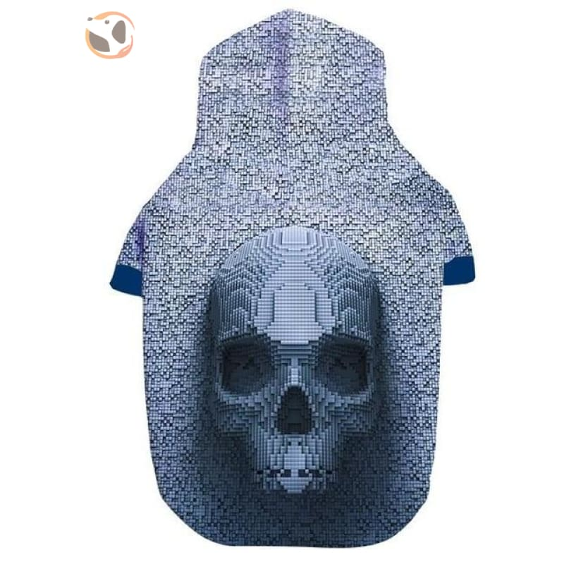 3D Skull Printed Dog Hoodies - Grey / S