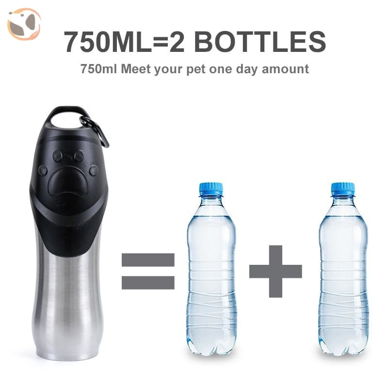 750Ml Outdoor Stainless Dog Water Bottle