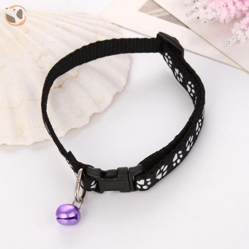Adjustable Cat Collar - Black / One Size