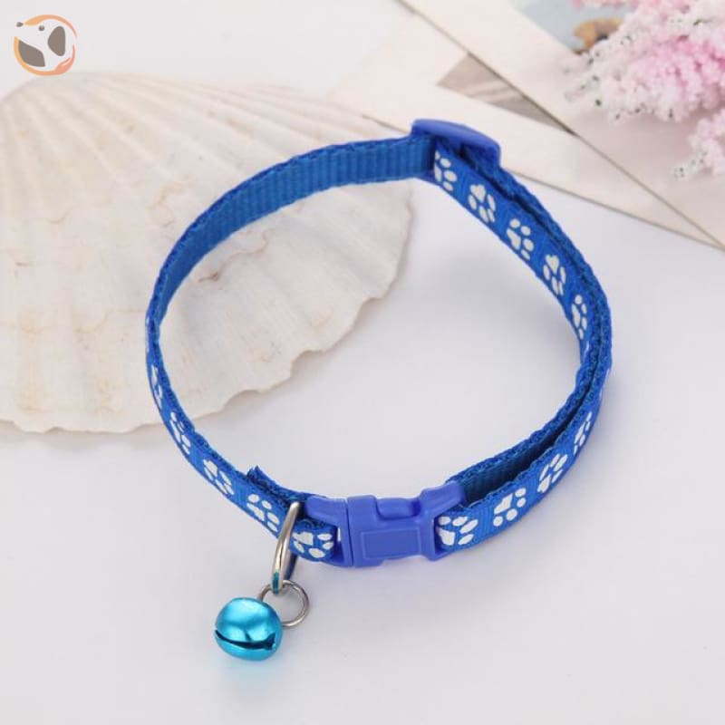 Adjustable Cat Collar - Blue / One Size