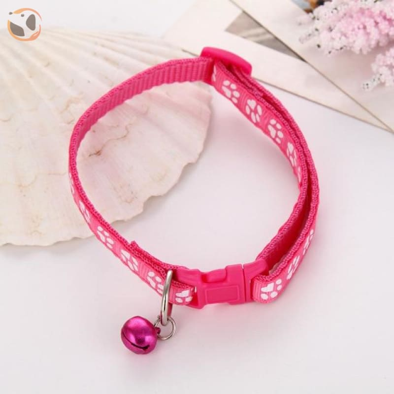 Adjustable Cat Collar - Pink / One Size