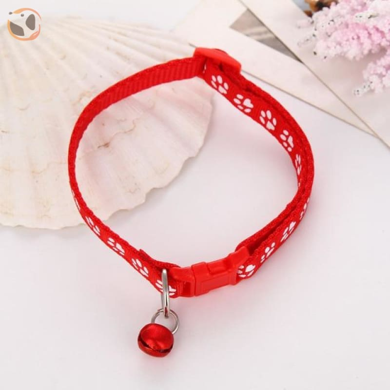 Adjustable Cat Collar - Red / One Size