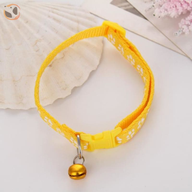 Adjustable Cat Collar - Yellow / One Size